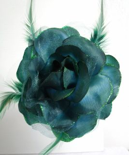 fabric rose flower hair accessory clip corsage 6 colors more