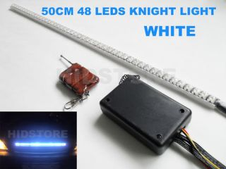 50cm white knight rider light car scanner light 12V Led Strip Day time
