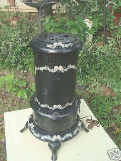 vintage black perfection kerosene heater stove electric shabby returns