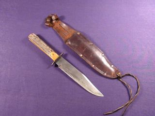 Vintage Solingen Germany Bowie Spear Point Knife with Sheath