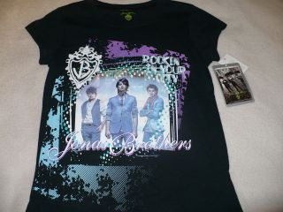DISNEY JONAS BROTHERS GIRLS SHIRT SIZE 14 L LARGE S/S NICK KEVIN JOE