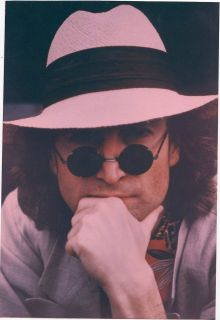 JOHN LENNON BEATLES MUSIC RED TINT HAT & SUNGLASSES ORIGINAL BOB GRUEN
