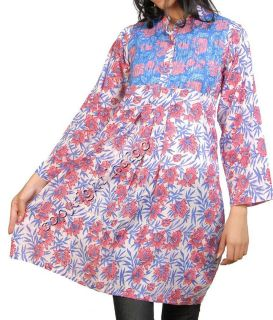 10 Cotton Shirts Front printexed Tops Tunics Caftans Kurtis Wholesale