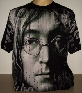 John Lennon Beatles All Over Print T Shirt Size M new