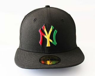 New Era 5950   New York Yankees RASTA   MLB Baseball Cap Hat