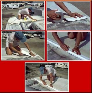 White Eternabond Mobile Home RV Rubber Roof Repair 8 x 10 Free