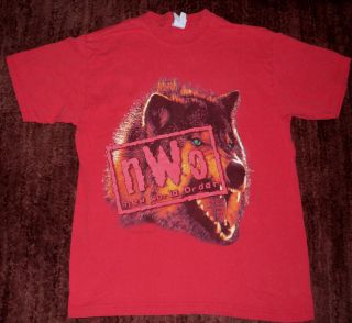 RARE DESIGN VINTAGE OFFICIAL WCW New World Order NWO Wolf Pack T Shirt