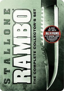 Rambo The Complete Collectors Set DVD, 2008, 6 Disc Set