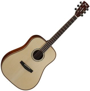 NEW CORT ALL SOLID AS E4 SPUCE TOP NATURAL DREADNOUGHT ACOUSTIC GUITAR