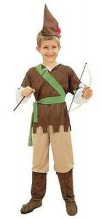 Boys Book Character Robin Hood Fancy Dress Party Costume Age 3 5