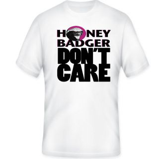 Honey Badger Dont Care T shirt in ALL sizes & light colors sku # 2 18