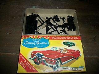 Vintage Precision Miniatures Thunderbird & MG Midget Kit #3753 Plastic