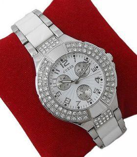 Newly listed Lady Fashion Wrist Watch Silver Tone White & Silver Tone