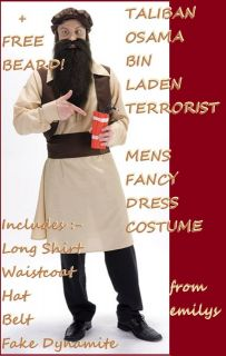Fancy Dress STAG Night Costume BIN LADEN Terrorist with FREE Beard