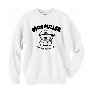 MAC MILLER Crewneck Sweatshirt most dope wiz khalifa illest thumbs up