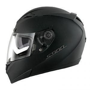 SHARK S900 DUAL MOTORCYCLE HELMET MATT BLACK MEDIUM NEW SALE