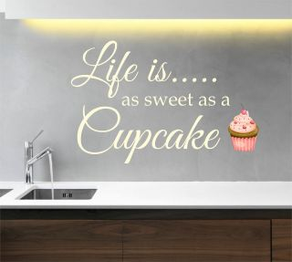 is as sweet as a Cupcake Kitchen Wall Art Sticker, Decal, Graphic K23