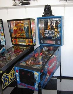 STAR WARS PINBALL MACHINE w NEW DARTH TOPPER ~ GREAT CONDITION ~ SALE
