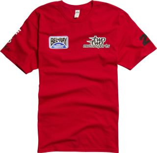 Shift Racing Chad Reed Team Two Two Motorsports Replica Tee Red Adult