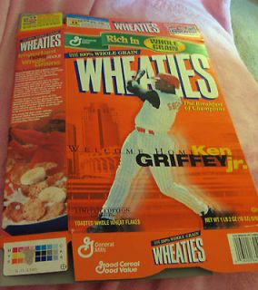FLAT WHEATIES BOX welcome home KEN GRIFFEY, JR. reds VINTAGE