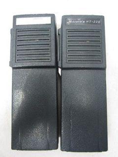 Lot of 2 Motorola HT220 Handie Talkie FM VHF Radios Vintage
