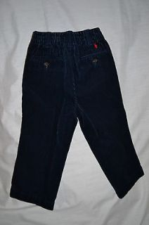 ralph lauren polo navy blue corduroy pants size 18 months euc
