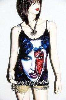 marilyn manson mm metal rock diy sexy cami tank top shirt