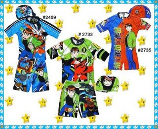BEN 10 ALIEN FORCE Swimsuit &Hat Set age 3 11 years Boys Swim Swimming