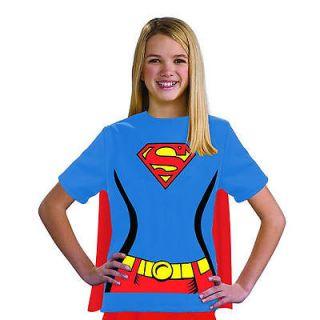 supergirl t shirt halloween costume child size medium