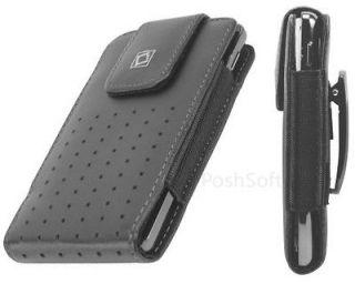 Leather VERTICAL Case Pouch Holder for LG Phones. Black + Holster Belt