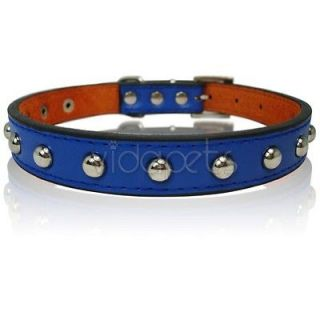newly listed 17 21 blue leather studded dog collar large