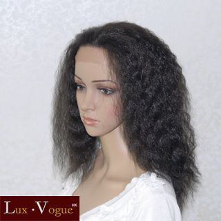 handsewn synthetic full lace front kinky wigs 9118 1b