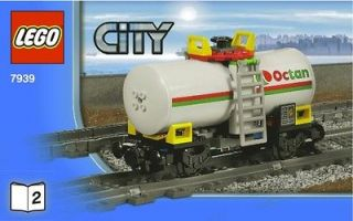 LEGO CITY TRAIN OCTAN OIL TANKER MINT 7939 (INTRNTNL SHIPPING)