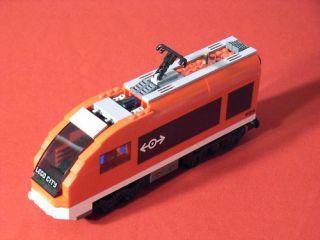 lego city red passenger train engine 7938