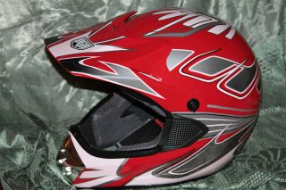 PGR MX Motocross Dirt Bike Quad Cross Snow Mobile Helmet Red Pink M
