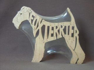 wire fox terrier or smooth dog wood amish toy puzzle