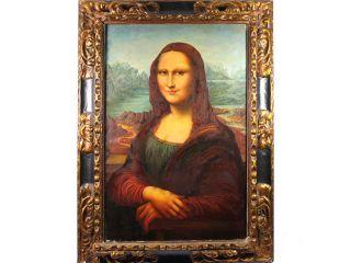 c1890 mona lisa da vinci oil painting on canvas victorian