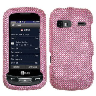 For AT&T LG Xpression Crystal Diamond BLING Hard Case Phone Cover Pink