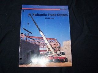 link belt hydraulic truck crane 14 60 tons brochure expedited