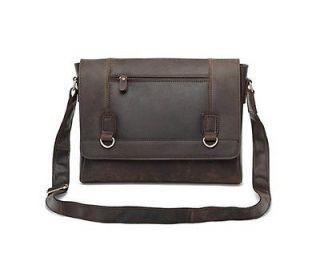 Vintage Style Leather Messenger Bag Mailbag Laptop Case Satchel