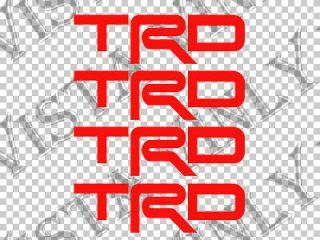 TRD Racing Development Wheel Center Cap vinyl decal sticker overlay