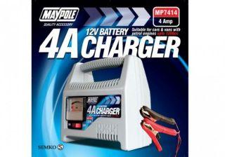 heavy duty 12v 4 amp battery charger car van marine