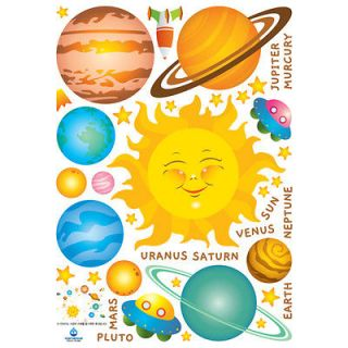 Solar System Instant Art Home Decor Removable Wall Sticker Decal