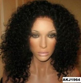INDIAN REMY AFRO CURL FULL LACE OR LACE FRONT WIG 12 22 IN STOCK