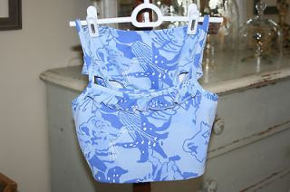 Lilly Pulitzer Tankini, Blue Lions and Flowers, Supplex Blend, Sz 10