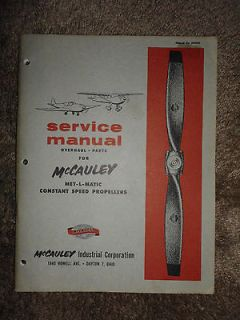 McCauley Propeller Service Overhaul Manual Parts Catalog 2A36C1