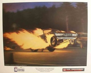 DON THE SNAKE PRUDHOMME HOT WHEELS POSTER   NHRA   Kenny