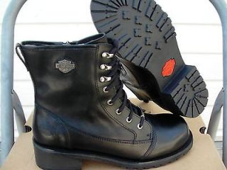 harley davidson boots black meg comfort boots size 8 us new in box