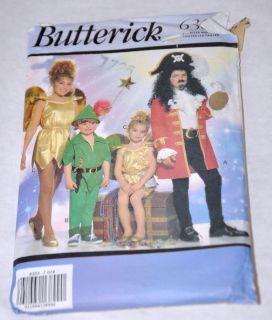 PATTERN Butterick 6303 Costume Boys Girls Peter Pan Tinkerbell Captain