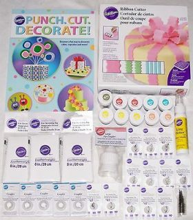 NEW WILTON ASSORTED CAKE DECORATING SUPPLIES. NEW